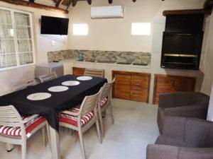 Inside Braai Area | Kakamas Accommodation | Palmhof Chalets